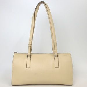 fb8fc808202a Authentic vintage Cream PRADA Leather Handbag